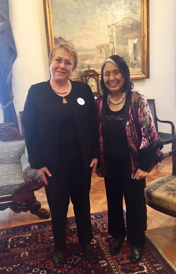 Jean con la Presidenta